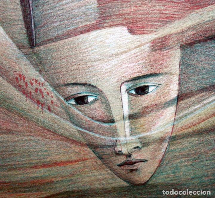 Arte: ANDREU MARTRO - LITOGRAFIA - 4/25 - DEDICADA A MACIA ALAVEDRA. - Foto 4 - 172155324