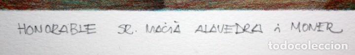 Arte: ANDREU MARTRO - LITOGRAFIA - 4/25 - DEDICADA A MACIA ALAVEDRA. - Foto 7 - 172155324