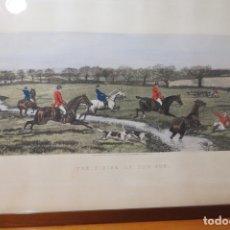 Arte: THE FINISH OF THE RUN - ESCENA DE CAZA - E A S DOUGLAS 1887. Lote 172963473