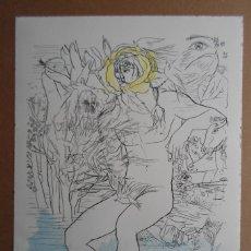 Art: GREGORIO PRIETO (VALDEPEÑAS CIUDAD REAL 1897-1992) LITOGRAFÍA 1977 DE 34X45CMS FIRMADA LÁPIZ Y 8/65. Lote 143922248