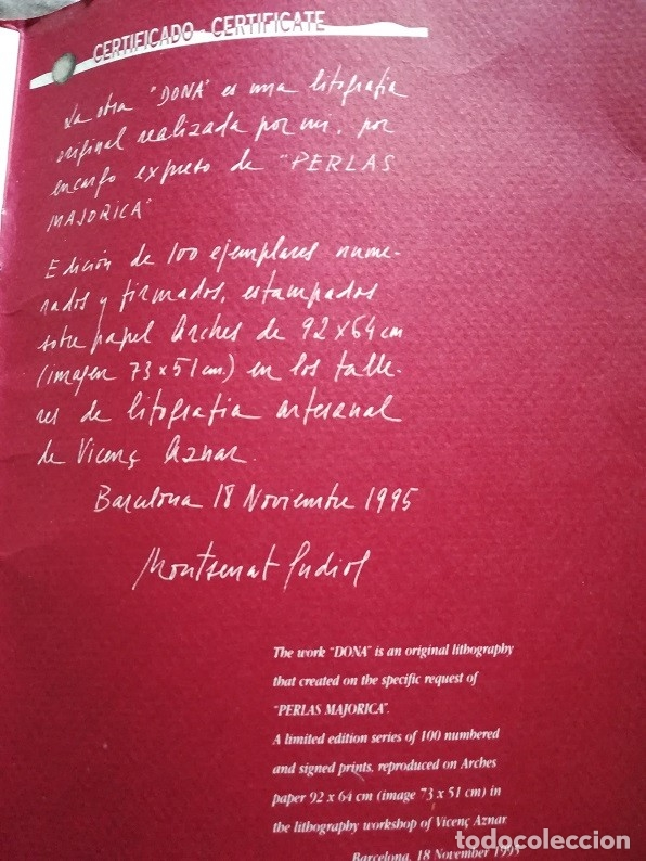 Arte: Montserrat Gudiol Limited Edition Lithograph - Foto 5 - 174000754