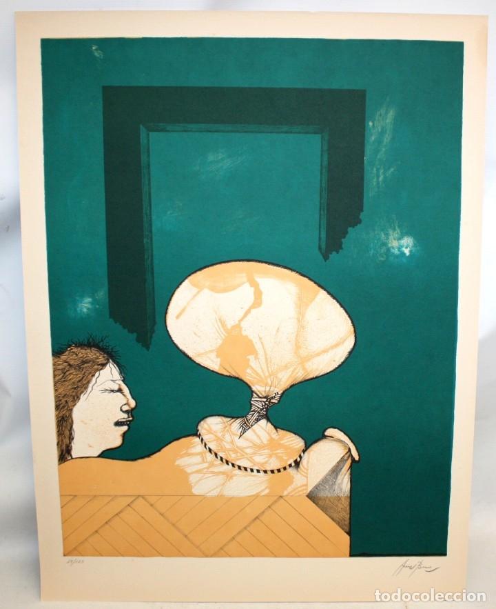 Arte: EDUARD ARRANZ BRAVO (BARCELONA, 1961) LITOGRAFIA ORIGINAL FIRMADA A LÁPIZ. TIRAJE: 49/125 - Foto 2 - 174431043