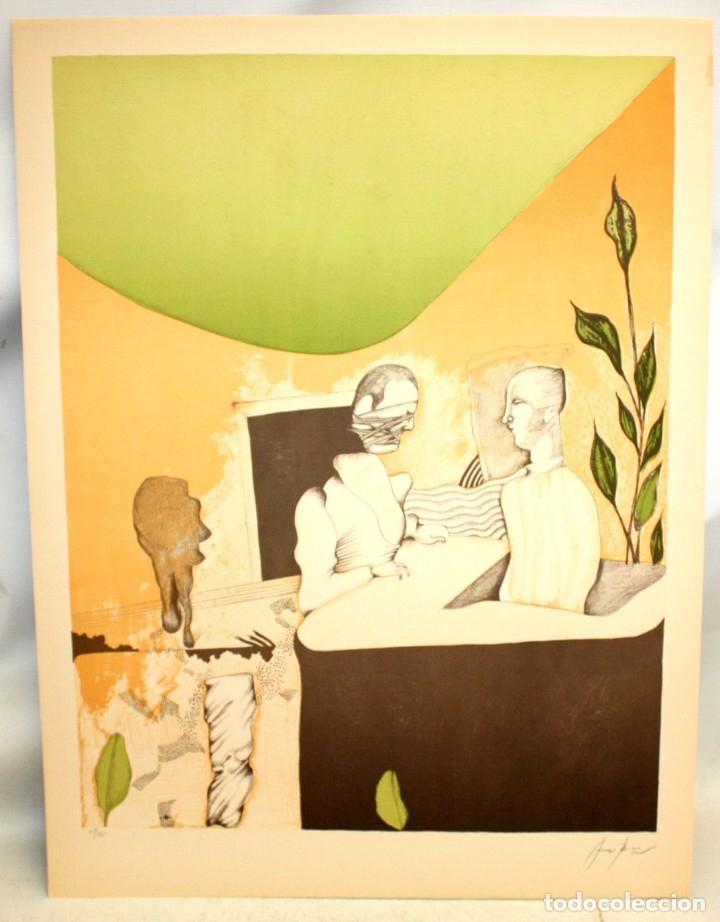 Arte: EDUARD ARRANZ BRAVO (BARCELONA, 1961) LITOGRAFIA ORIGINAL FIRMADA A LÁPIZ. TIRAJE: 49/125 - Foto 2 - 174431967