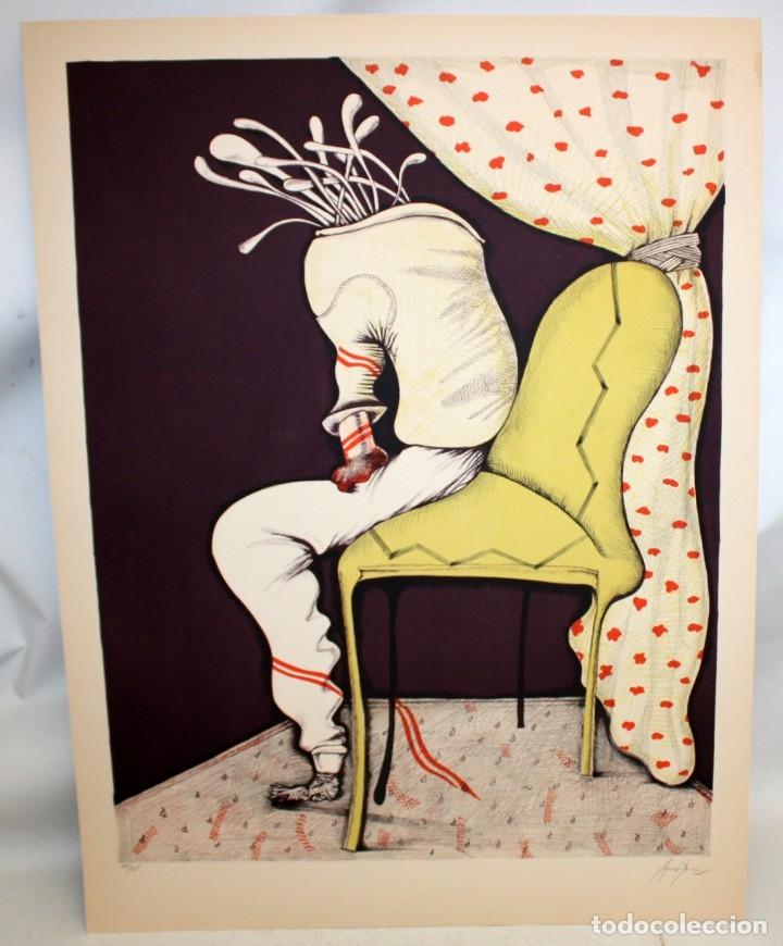 Arte: EDUARD ARRANZ BRAVO (BARCELONA, 1961) LITOGRAFIA ORIGINAL FIRMADA A LÁPIZ. TIRAJE: 49/125 - Foto 2 - 174432030