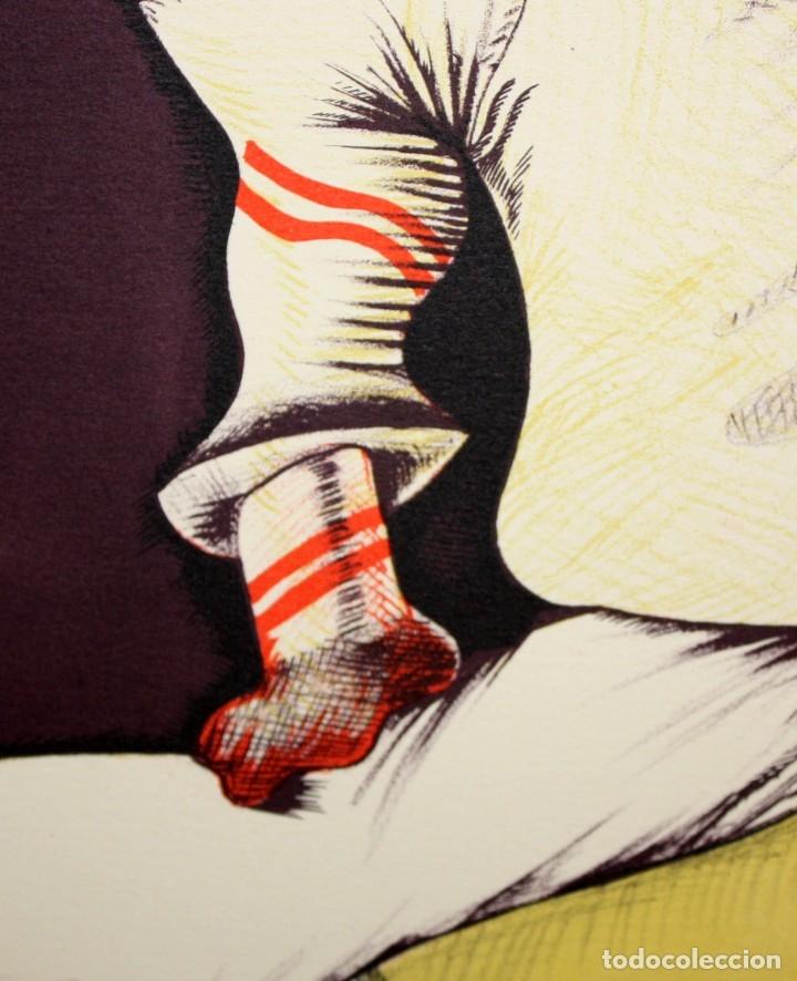 Arte: EDUARD ARRANZ BRAVO (BARCELONA, 1961) LITOGRAFIA ORIGINAL FIRMADA A LÁPIZ. TIRAJE: 49/125 - Foto 4 - 174432030