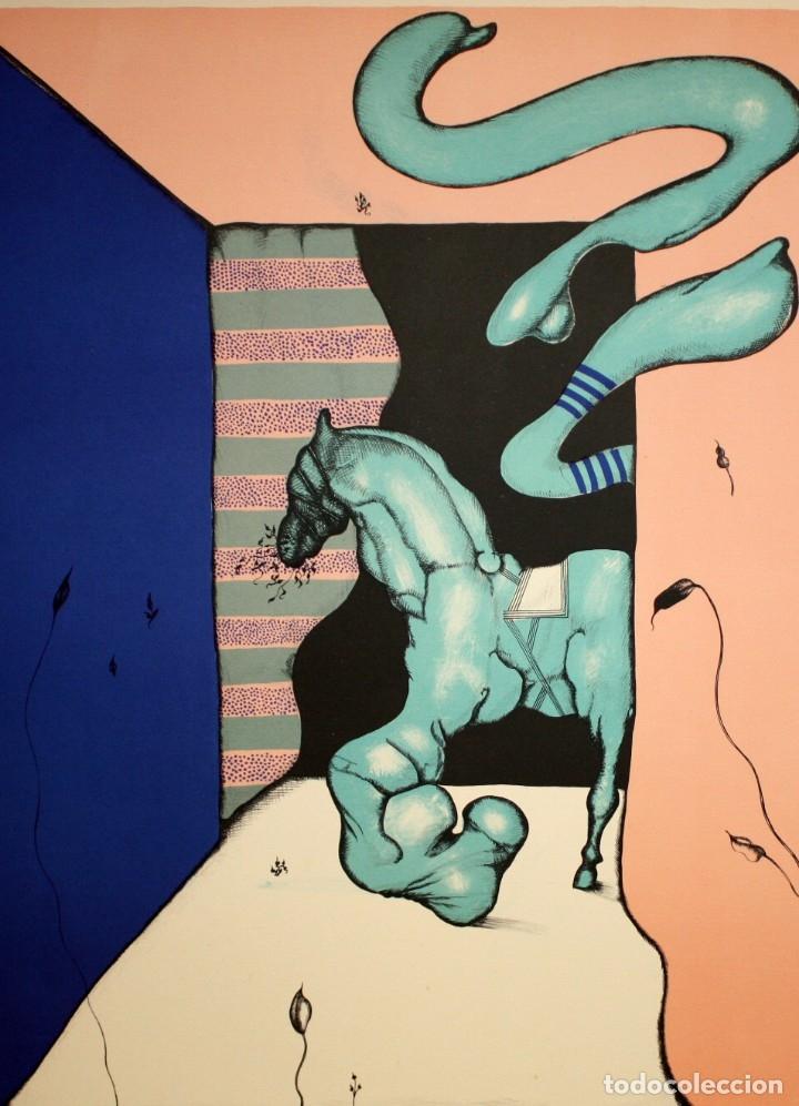 EDUARD ARRANZ BRAVO (BARCELONA, 1961) LITOGRAFIA ORIGINAL FIRMADA A LÁPIZ. TIRAJE: 49/125 (Arte - Litografías)