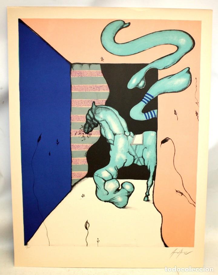 Arte: EDUARD ARRANZ BRAVO (BARCELONA, 1961) LITOGRAFIA ORIGINAL FIRMADA A LÁPIZ. TIRAJE: 49/125 - Foto 2 - 174432208