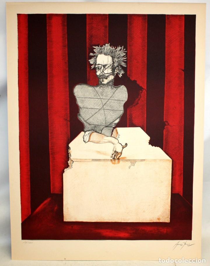 Arte: EDUARD ARRANZ BRAVO (BARCELONA, 1961) LITOGRAFIA ORIGINAL FIRMADA A LÁPIZ. TIRAJE: 49/125 - Foto 2 - 174432263