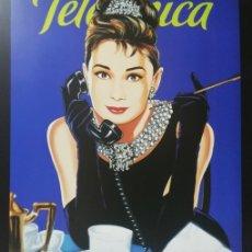 Arte: ANTONIO DE FELIPE CUADRO AUDREY HEPBURN TELEFÓNICA © CINEMASPOP 2001 ICONO 30X28 CM. Lote 174424310