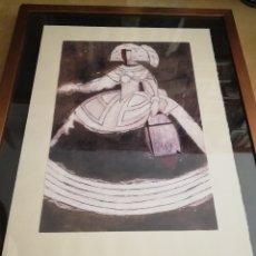 Arte: MANOLO VALDÉS: MENINA VELÁZQUEZ (REPRODUCCIÓN). Lote 174530664