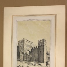 Arte: LITOGRAFIA PUERTA ANTIGUA DE VISAGRA. TOLEDO. S. XIX. Lote 174573324