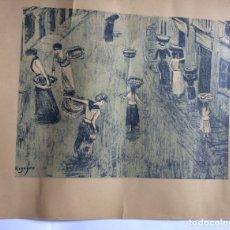 Arte: LITOGRAFÍA DE DARIO DE REGOYOS -SARDINERAS. Lote 174627933