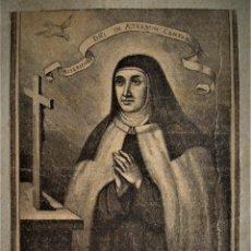 Art: LITOGRAFÍA DE SANTA TERESA DE JESÚS.CARMELITAS.. Lote 175193018