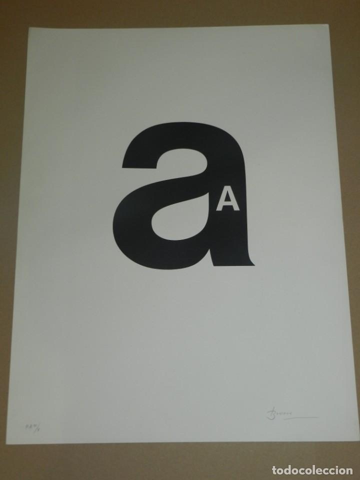 (M) LITOGRAFIA JOAN BROSSA, LLETRA A POEMA VISUAL, P.A. IV/V, 50X38 CM, BUEN ESTADO (Arte - Litografías)