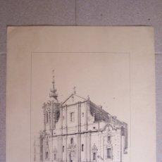 Arte: LITOGRAFÍA ANTIGUO CONVENTO DE MONSERRAT. J. CEBRIAN. 44 X 32 CM.. Lote 175525905