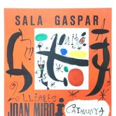 Arte: JOAN MIRO CARTEL LITOGRÁFICO DE 1968. Lote 175663227