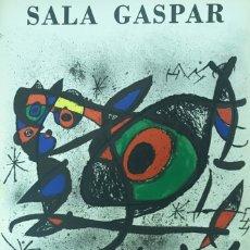 Arte: JOAN MIRO CARTEL LITOGRÁFICO DE 1972. Lote 175663422