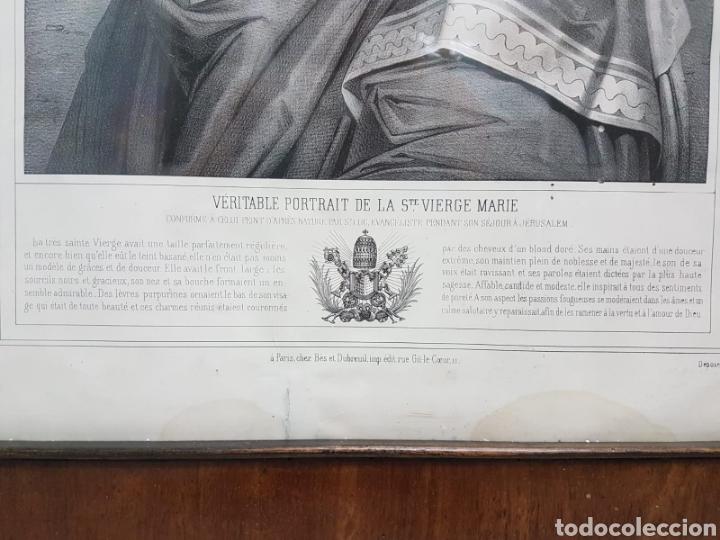Arte: LE VERITABLE PORTRAIT DE LA VIERGE MARIE. BAUSSAN, FRANCOISE. 1860. RETRATO DEL EVANGELIO SAN LUCAS. - Foto 2 - 175720057