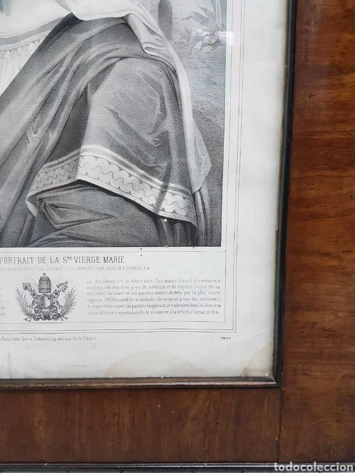 Arte: LE VERITABLE PORTRAIT DE LA VIERGE MARIE. BAUSSAN, FRANCOISE. 1860. RETRATO DEL EVANGELIO SAN LUCAS. - Foto 4 - 175720057