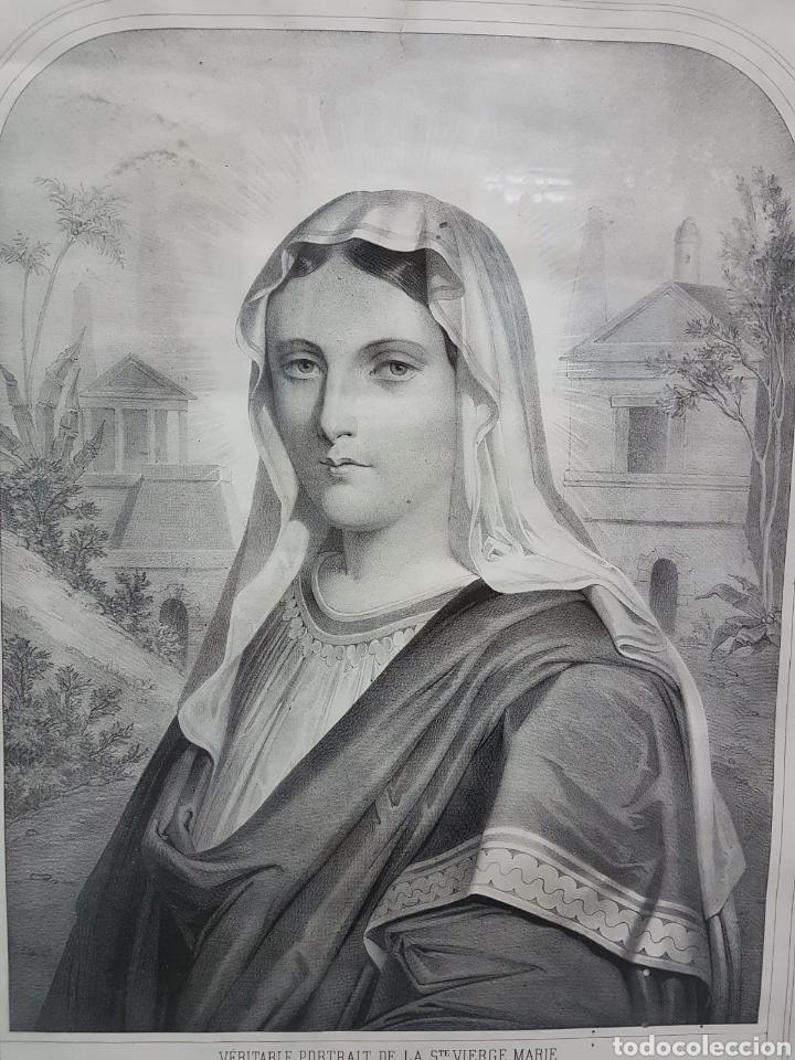 Arte: LE VERITABLE PORTRAIT DE LA VIERGE MARIE. BAUSSAN, FRANCOISE. 1860. RETRATO DEL EVANGELIO SAN LUCAS. - Foto 5 - 175720057