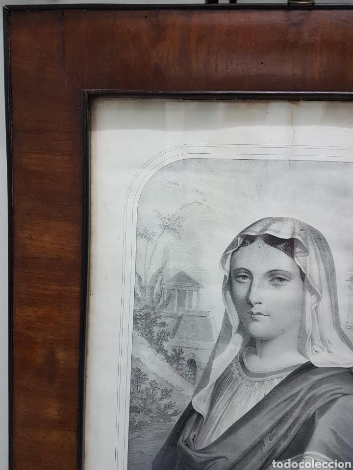 Arte: LE VERITABLE PORTRAIT DE LA VIERGE MARIE. BAUSSAN, FRANCOISE. 1860. RETRATO DEL EVANGELIO SAN LUCAS. - Foto 6 - 175720057