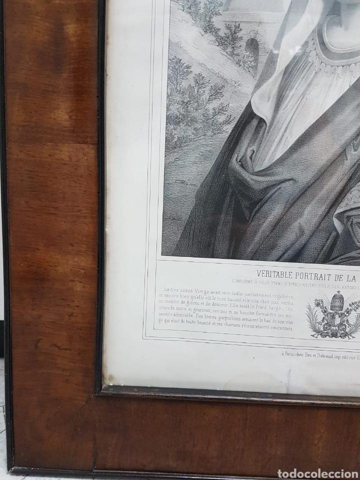 Arte: LE VERITABLE PORTRAIT DE LA VIERGE MARIE. BAUSSAN, FRANCOISE. 1860. RETRATO DEL EVANGELIO SAN LUCAS. - Foto 7 - 175720057