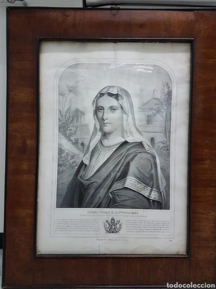 LE VERITABLE PORTRAIT DE LA VIERGE MARIE. BAUSSAN, FRANCOISE. 1860. RETRATO DEL EVANGELIO SAN LUCAS. (Arte - Litografías)