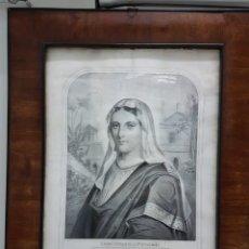 Arte: LE VERITABLE PORTRAIT DE LA VIERGE MARIE. BAUSSAN, FRANCOISE. 1860. RETRATO DEL EVANGELIO SAN LUCAS.. Lote 175720057