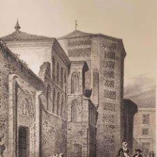 Arte: F.J. PARCERISA. SANTA YSABEL (TOLEDO). LITOGRAFÍA ORIGINAL, ULTIMO TERCIO SIGLO XIX. Lote 175871870