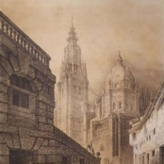 Arte: F.J. PARCERISA. CATEDRAL DE TOLEDO. LITOGRAFÍA ORIGINAL, ULTIMO TERCIO SIGLO XIX. Lote 175871938