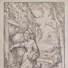 Arte: MARAVILLOSA ESCENA DE E. VON STEINLE, FINALES DEL XIX-PPIOS DEL XX. 43 X 30 CM. Lote 175911967