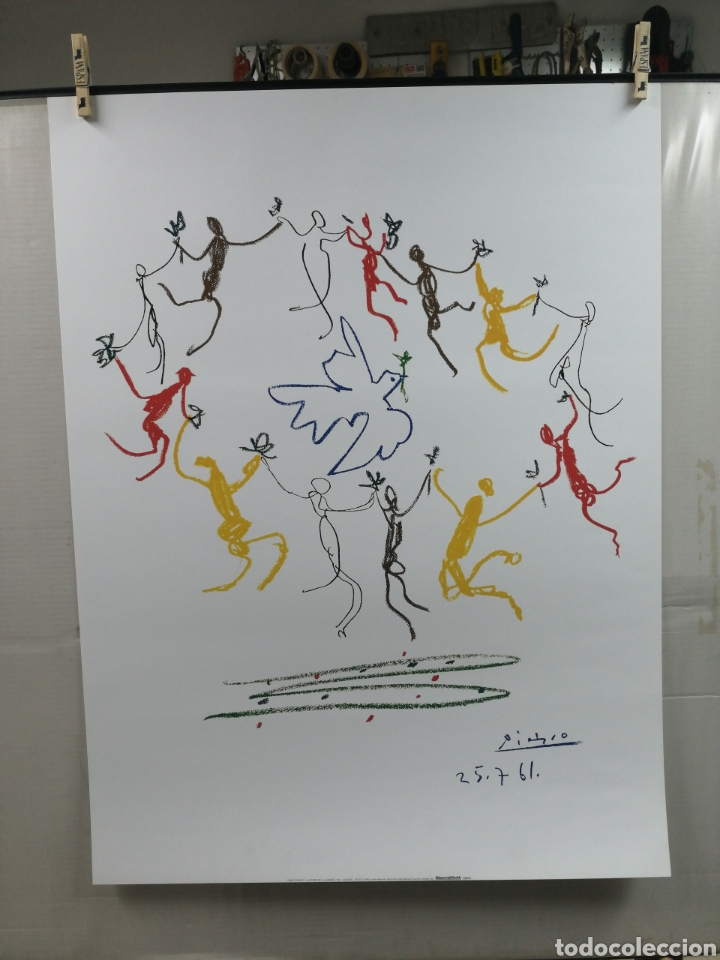 Arte: PABLO PICASSO, La Ronde de la Jeunesse 1961 - GALERIE L ART ET LA PAIX. LAMINA LITOGRAFÍA ORIGINAL - Foto 2 - 194534701
