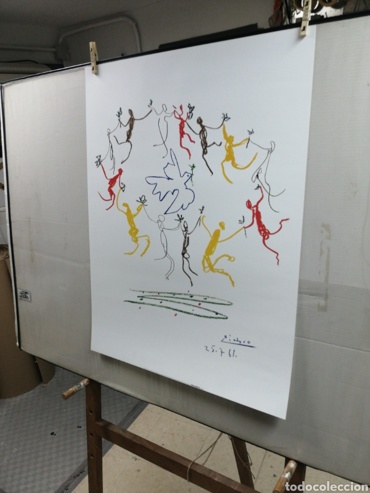 Arte: PABLO PICASSO, La Ronde de la Jeunesse 1961 - GALERIE L ART ET LA PAIX. LAMINA LITOGRAFÍA ORIGINAL - Foto 5 - 194534701