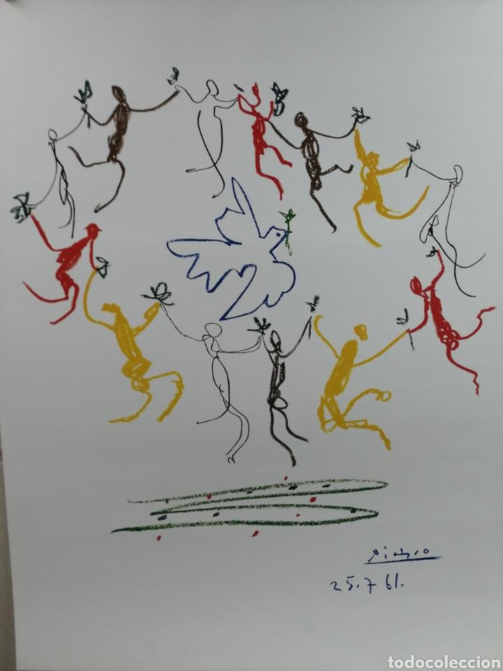 PABLO PICASSO, LA RONDE DE LA JEUNESSE 1961 - GALERIE L' ART ET LA PAIX. LAMINA LITOGRAFÍA ORIGINAL (Arte - Litografías)