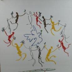 Arte: PABLO PICASSO, LA RONDE DE LA JEUNESSE 1961 - GALERIE L' ART ET LA PAIX. LAMINA LITOGRAFÍA ORIGINAL. Lote 194534701