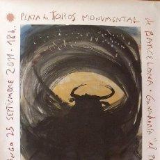 Arte: MIQUEL BARCELÓ: CARTEL LITOGRÁFICO. ÚLTIMA CORRIDA DE TOROS EN LA MONUMENTAL. TAUROMAQUIA. 150X85 CM. Lote 191096158