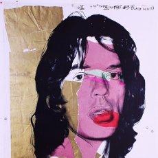 Arte: ANDY WARHOL - MICK JAGGER - MUSEO DE ARTE MODERNO DE VIENA. Lote 176136580