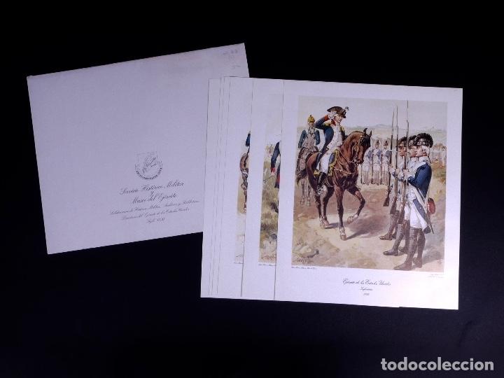 LÁMINAS DEL EJERCITO DE ESTADOS UNIDOS SIGLO XVIII (Arte - Litografías)