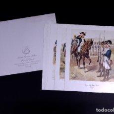 Arte: LÁMINAS DEL EJERCITO DE ESTADOS UNIDOS SIGLO XVIII. Lote 176283294