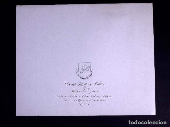 Arte: LÁMINAS DEL EJERCITO DE ESTADOS UNIDOS SIGLO XVIII - Foto 2 - 176283294