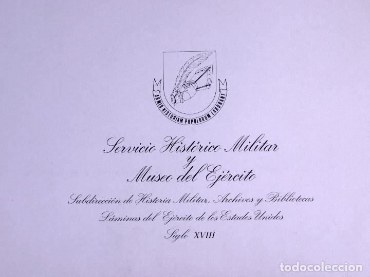 Arte: LÁMINAS DEL EJERCITO DE ESTADOS UNIDOS SIGLO XVIII - Foto 3 - 176283294