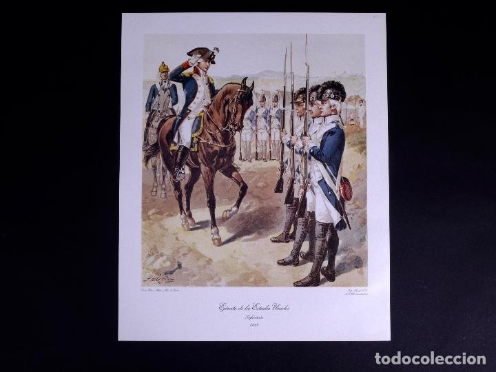 Arte: LÁMINAS DEL EJERCITO DE ESTADOS UNIDOS SIGLO XVIII - Foto 4 - 176283294