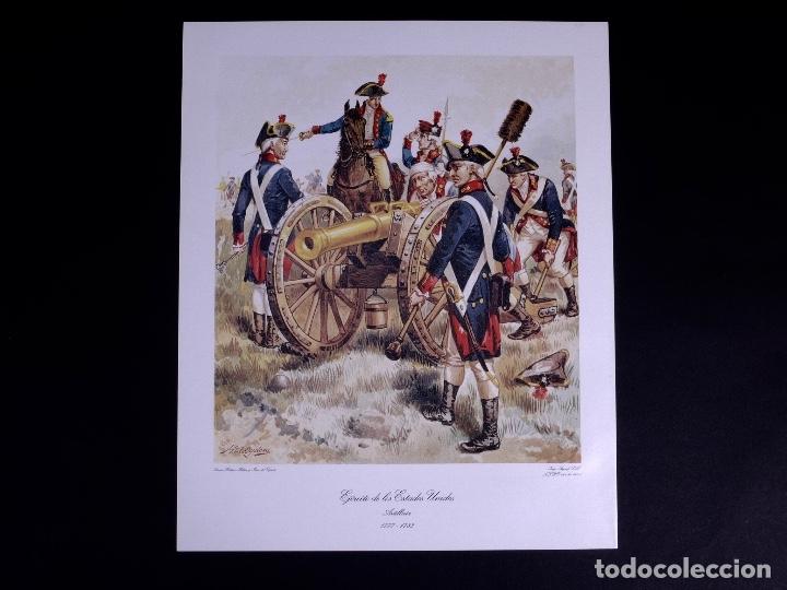 Arte: LÁMINAS DEL EJERCITO DE ESTADOS UNIDOS SIGLO XVIII - Foto 6 - 176283294
