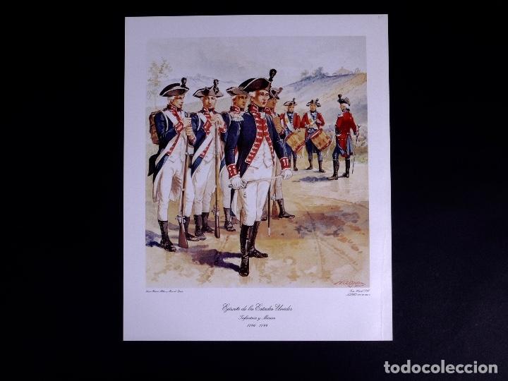 Arte: LÁMINAS DEL EJERCITO DE ESTADOS UNIDOS SIGLO XVIII - Foto 12 - 176283294
