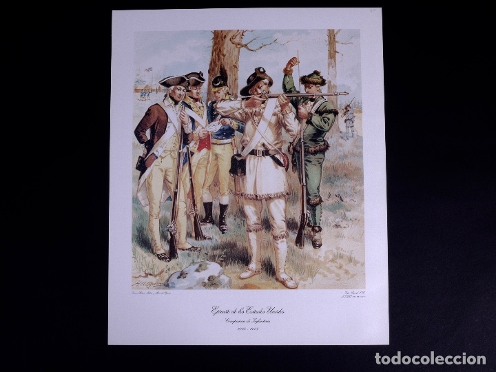 Arte: LÁMINAS DEL EJERCITO DE ESTADOS UNIDOS SIGLO XVIII - Foto 14 - 176283294