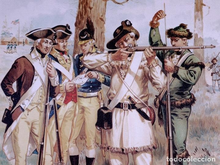 Arte: LÁMINAS DEL EJERCITO DE ESTADOS UNIDOS SIGLO XVIII - Foto 15 - 176283294