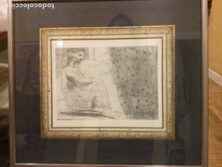 Arte: Picasso suite vollard, Lamina enmarcada. - Foto 2 - 176283334