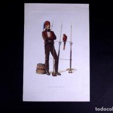 Arte: LÁMINAS MILITARES ESPAÑOLES. MARINERO. 1807. Lote 176283870