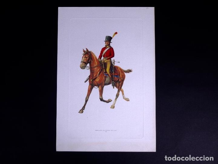 LÁMINAS MILITARES ESPAÑOLES. MIQUELETE. 1807 (Arte - Litografías)