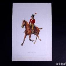 Arte: LÁMINAS MILITARES ESPAÑOLES. MIQUELETE. 1807. Lote 176283945